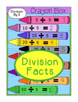 Divison Facts Math Activity Bulletin Board PDF Printable C