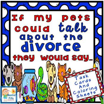 Divorce Task Cards: If My Pets Could Talk About The Divorc