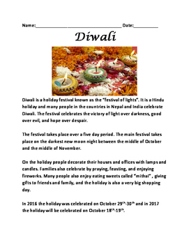 Diwali - festival of lights informational article review f