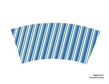 Dixie Cup wraps -- BLUE