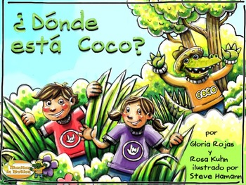 ¿Dónde está Coco? – a bilingual book, prepositions, swamp
