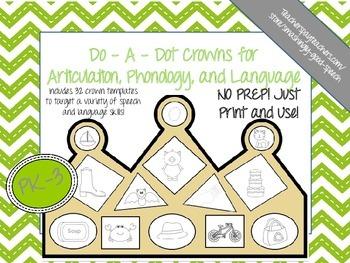 Do-A-Dot Crowns for Articulation, Phonology, and Language