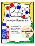 Do-A-Dot, Number Set, 2 Worksheet Sets - Numbers, Number W