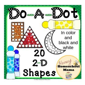 Do-A-Dot, Shapes Set 1, Use a Bingo Marker to Learn Lots o