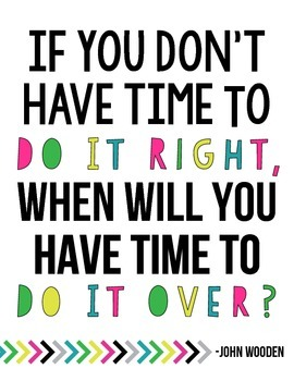 Do It Right Quote Printable Poster