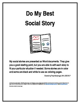 Do My Best Social Story