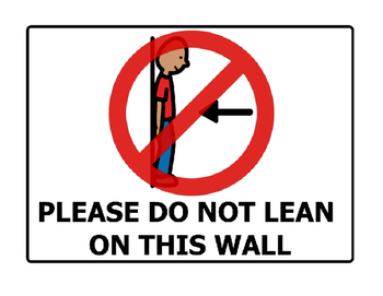 Do Not Lean on This Wall Poster