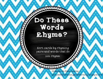 Do These Words Rhyme?