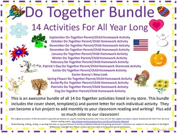Do Together Holiday/Seasonal Bundle of 14 Activities For A