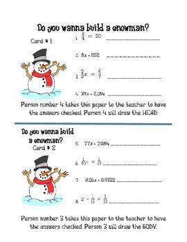 Do You Wanna Build a Snowman Equation Relay