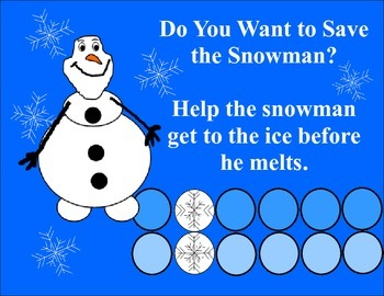 Do You Want to Save The Snowman?  Addition and Subtraction