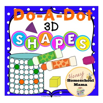 Do-a-Dot 3D Shapes - 10 Shapes on 21 Different Worksheets