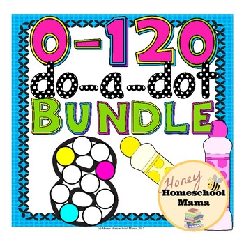 Do-a-Dot Basic Numbers Bundle 0 to 120 - 4 Sets Covering N