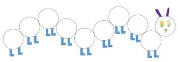 Do a dot - Caterpillar (9 circles)