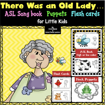 There Was an Old Lady Who Swallowed a Fly in ASL.puppets.s