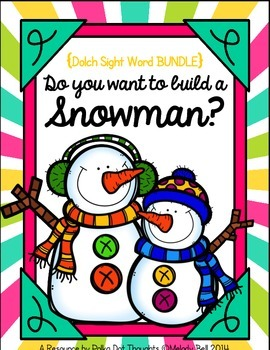 Do you want to build a Snowman? {Dolch Sight Word BUNDLE}