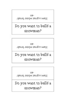 Do you want to build a snowman? Holiday Gift label