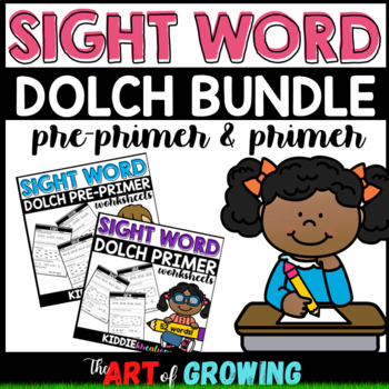 Kindergarten Sight Word Worksheets - Dolch Pre-Primer & Pr