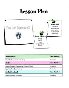 Doctor Specialist Lesson