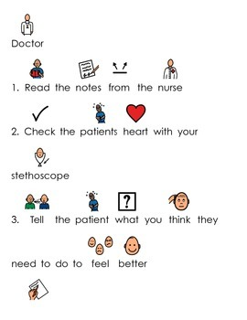 Doctor's Office Pretend Play Visuals & Writing