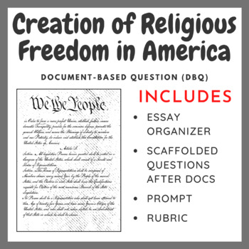 Creation of Religious Freedom in America - Document-Based