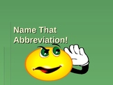 Documentation Game (Name that Abbreviation)