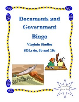 Documents and Government Bingo: VA Studies 6a, 6b, 10a