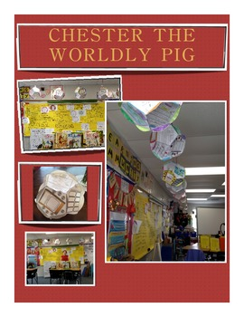 """Dodecahedron """"Chester the Worldly Pig"""" by Bill Peet Book W"""