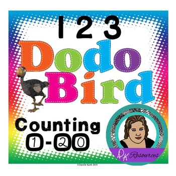 Dodo Bird Counting Set Count 1-20 with posters, flash card