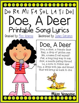 Doe, A Deer ~ Printable Song Lyrics Page