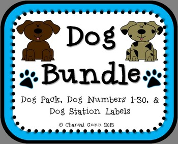 Dog Bundle! Classroom Decor and Label Kit