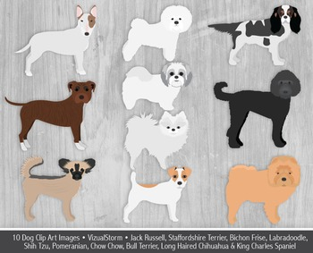 Dog Clip Art - 10 Hand Drawn Toy Dogs and Terriers - Cute