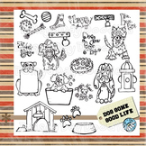 Dog Gone Good Life - Clip Art - Hand Drawn - Original