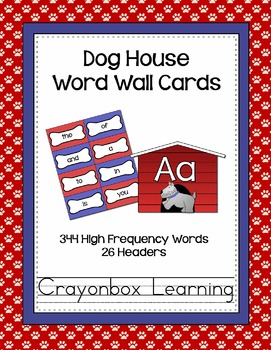 Dog Word Wall Cards and Headers {with editable templates too!}