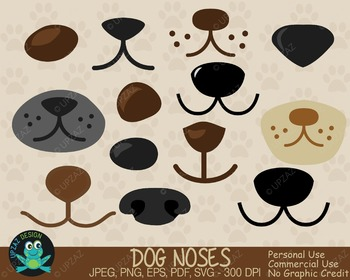 Dog Noses Variety Pack (Upzaz Digital Clipart)