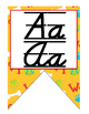 Dog (Pet) D'Nealian manuscript and cursive Alphabet banner