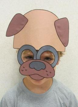 Farm Animals Dog Sentence Strip Mask