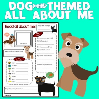 All About Me Dog Theme