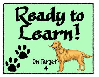 Dog Theme Clip Chart