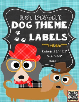 Dog Theme Labels and Posters *editable*