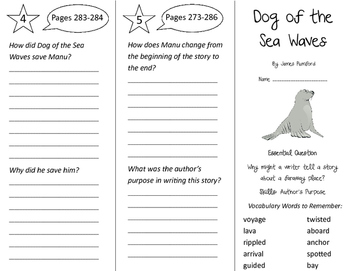 Dog of the Sea Waves Trifold - Journeys 3rd Gr Unit 5 Week