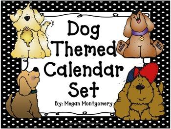 Dog/Polka Dot Themed Calendar Set