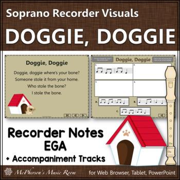 Doggie Doggie - Soprano Recorder Visuals (Notes EGA)