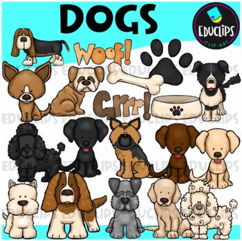 Dogs Clip Art Bundle {Educlips Clipart}
