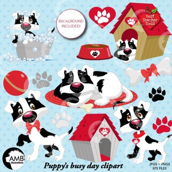 Dogs Life 2 clipart pack. dog clipart, puppy clipart, AMB-595