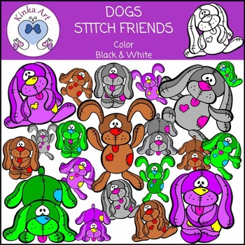 Dogs - Stitch Friends Clip Art