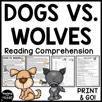 Dogs vs. Wolves Compare and Contrast Reading Comprehension