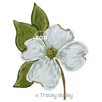Dogwood Flower Blossom Printable Tracey Gurley Designs