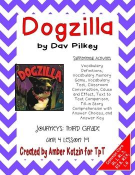 Dogzilla Activities 3rd Grade Journeys Unit 4, Lesson 19 (