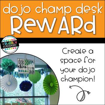 Dojo Champion Desk Reward {EDITABLE}